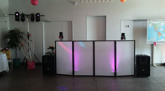 paravent dj screen