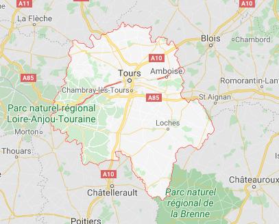 carte Indre et Loire 37
