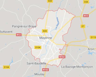 carte mayenne 53